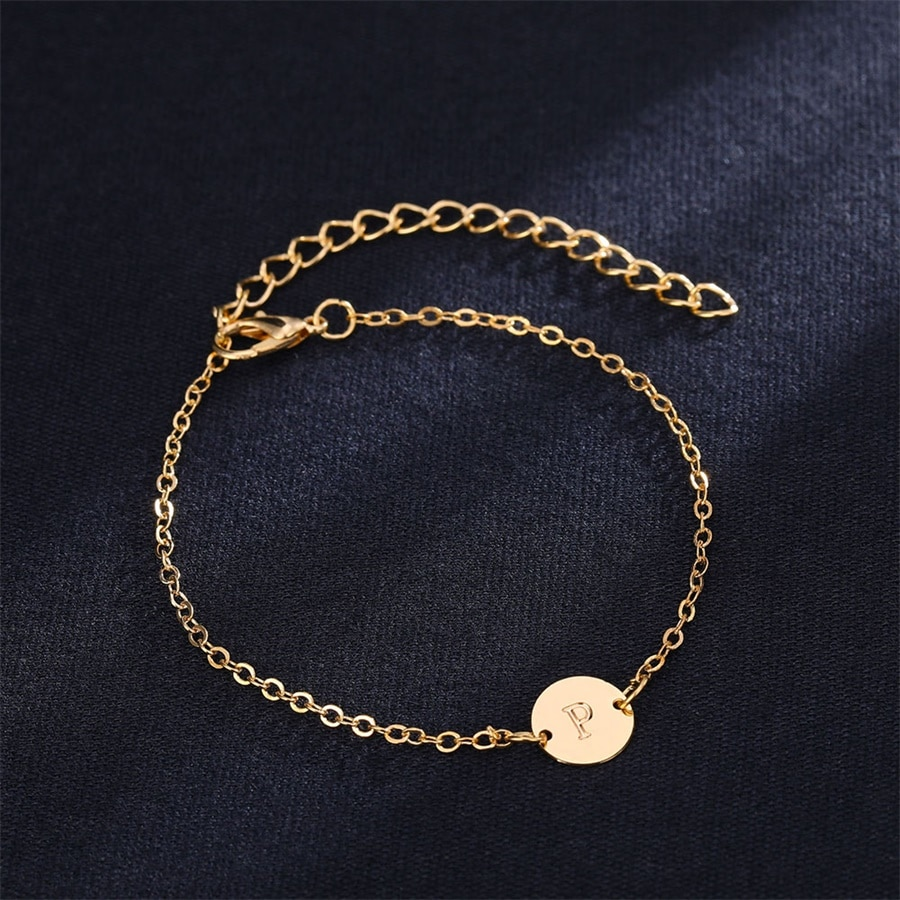 Women's Letter Shaped Gold Bracelet