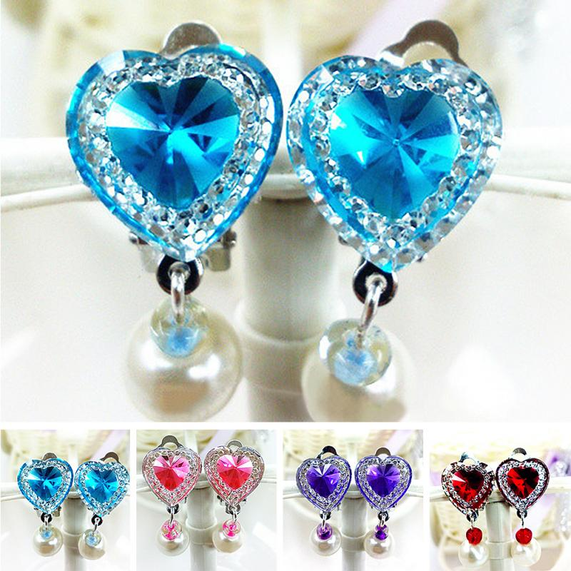 Girls' Heart Shaped Earrings
